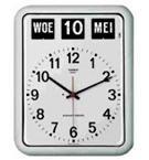 Nederlandse kalenderklok BQ-12A Wit, kalenderklok voor slechtzienden die tijd en datum weergeeft (619050)