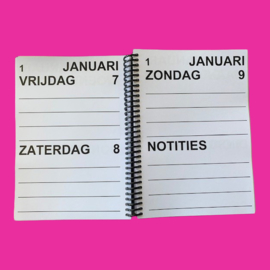 Grootletter agenda 2022, agenda met grote letters en cijfers in A5-formaat