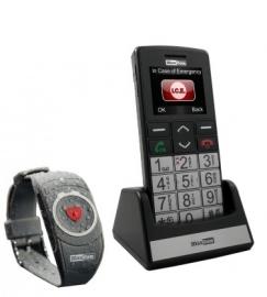 Mobiele telefoon met grote cijfers en letters en alarmknop voor slechtzienden - 572004