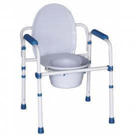 Toiletstoel, toiletverhoger en toiletsteun in 1