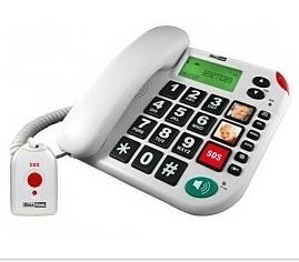 Alarmtelefoon met grote toetsen met alarmzender voor slechtzienden -  572008