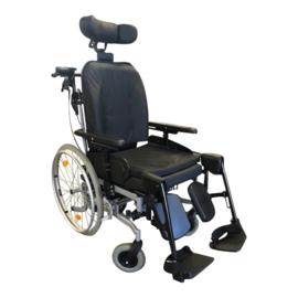 Tweedehands kantelbare rolstoel Plaza Deluxe met duwondersteuning - 16805632 (Gereserveerd - 2109)