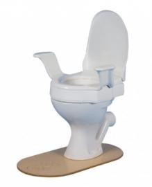 Nobi toiletverhoger van 10 cm met vaste armleuningen