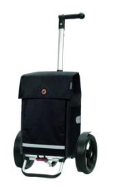 Boodschappenwagen met extra grote wielen van 29 cm, Tura Shopper Martje Zwart