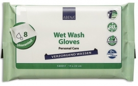 Vochtige washandjes, verzorgend wassen, wassen zonder water van Abena