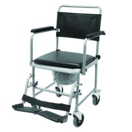 Toiletstoel op wielen met wegklapbare armleuningen - TRS 130