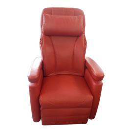 Tweedehands rood leren sta-op stoel van Fitform, Vario 570 - 16797303
