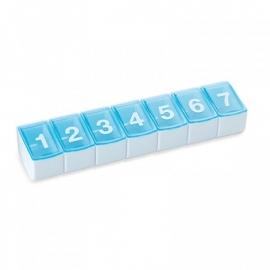 Medicijnendoos met 7 genummerde vakken