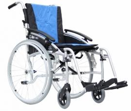 Lichtgewicht aluminium rolstoel Excel G-Lite Pro 24, rolstoel voor de auto