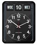 Nederlande kalenderklok BQ-12A Zwart voor slechtzienden (kalenderklok geeft dag, datum en maand weer) - 619051