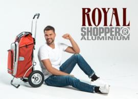 Boodschappenwagen voor achter de fiets met grote wielen met luchtbanden, Royal Shopper