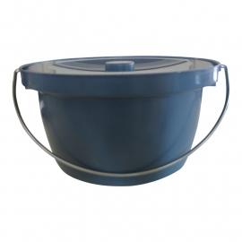 Emmer voor toiletstoel - Toiletemmer grijs inclusief deksel