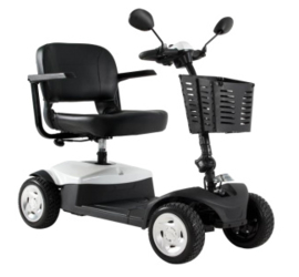 Demontabele 4-wiel scootmobiel om mee te nemen in de auto, Caremart Fun & Me