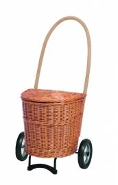 Kleine rieten boodschappenwagen Naturel, zonder stoffen bekleding - 9-650-20