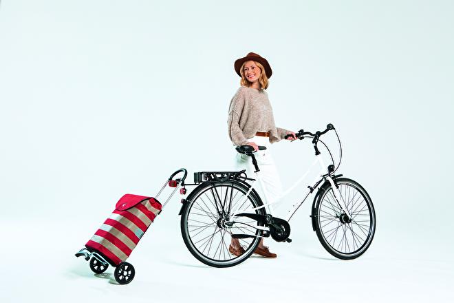 Scala Shopper, lichte boodschappenwagen voor achter de fiets