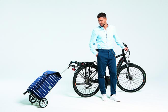 Boodschappenwagen voor achter de fiets, Unus Shopper Fun