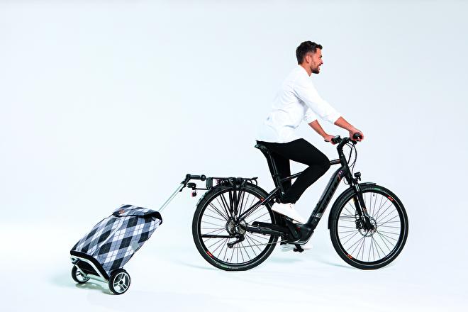 Boodschappenwagen voor achter de fiets, Unus Shopper
