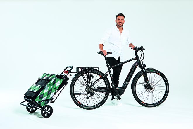 Komfort Shopper met zitje voor achter de fiets