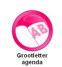 Agenda met grote letters