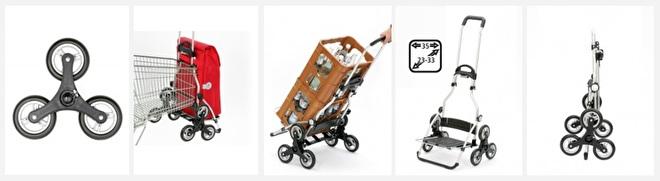 Overzicht functies boodschappenwagen voor de trap, Royal Shopper Treppensteiger