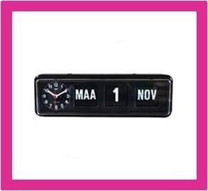 Kalenderklok, dag datum klok voor slechtzienden BQ-38 zwart