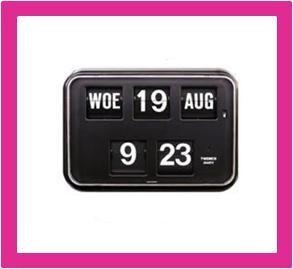 Kalenderklok, dag datum klok voor slechtzienden QD-35 zwart