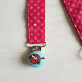 Speen-knuffelkoord Roze bloemetje