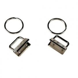 Sleutelhanger ring+klem