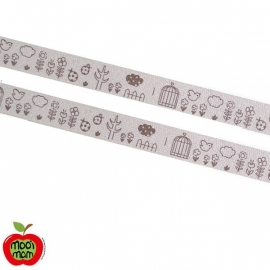 Zakka band Beestjes/Bloemetjes (15 mm)