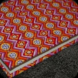 Notitieboek Retro roze/oranje