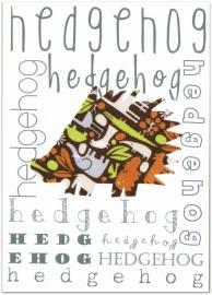 Wenskaart Hedgehog/Egel