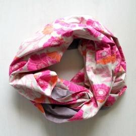 Infinity Sjaal Roze/Grijs