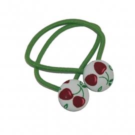 Haarelastiekjes kersen (groen/19mm)