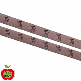 Band Hertje Roze (15mm)