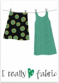 Wenskaart Love Fabric (jurk)