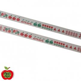 Zakka band Fruit/Bloemetjes (15mm)