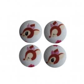 Magneetjes Hertjes crème/roze (23 mm)