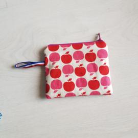 Mini portemonneetje Appel rood