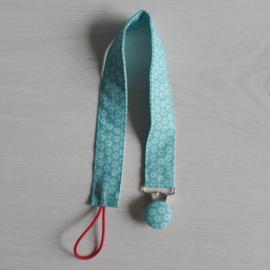 Speen-knuffelkoord blauw bloemetje