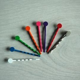 Gekleurde Haarschuifjes 5 cm (per 2)