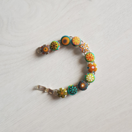 Armbandje stofknoopjes hippie 1