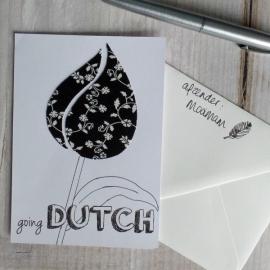Wenskaart Going Dutch (zwart/wit)