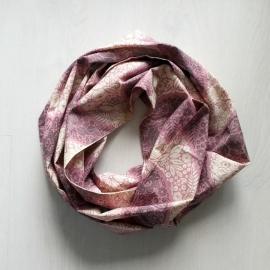 Infinity Sjaal Oud Roze/Crème