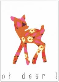 Wenskaart Oh Deer