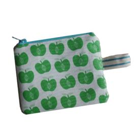 Mini portemonneetje Appel groen