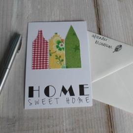 Wenskaart Home Sweet Home