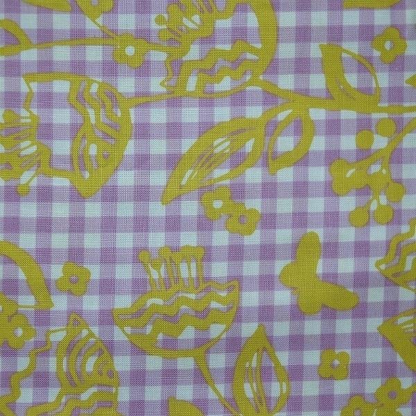 Bloem&Vlinder op ruitje (lila/geel)