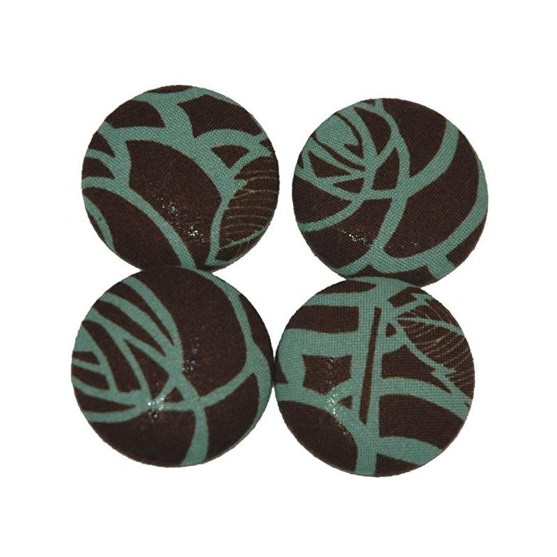 Knopen chocolade/blauw (38 mm)