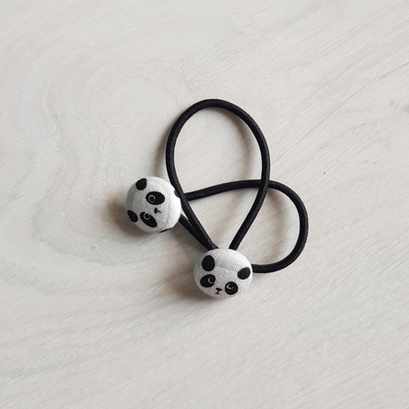 Haarelastiekjes panda (19mm)