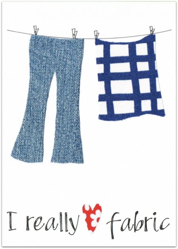 Wenskaart Love Fabric (broek)